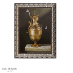 Embossed gold vase, memory of the past
