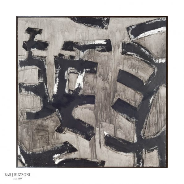 Abstract painting black Barj Buzzoni