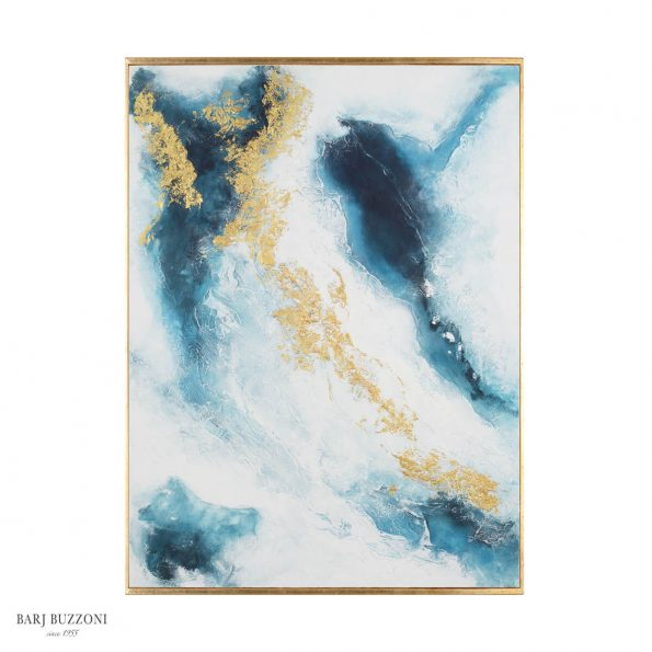 abstract blue and gold sky