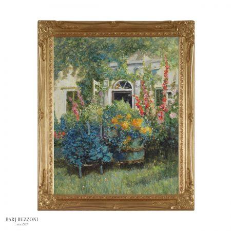 Giardino in fiore di una casa di campagna