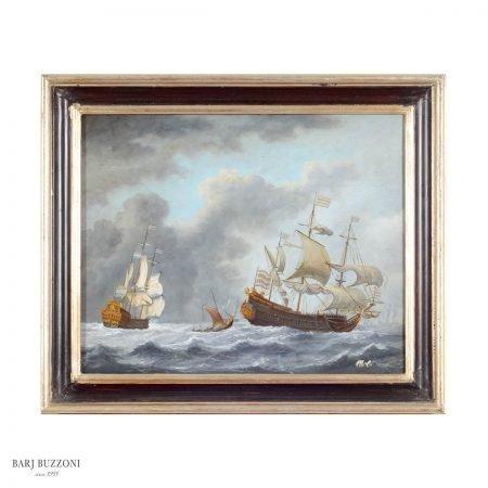 Marine boats storm