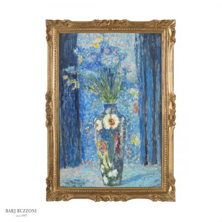 Flower in blue impressionist