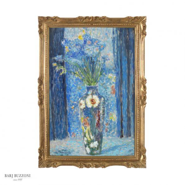 Flower in blue impressionist